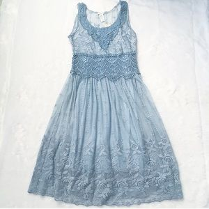 New With Tags Sundance Love Always Blue Lace Dress